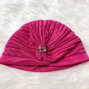 Accessories - Hot Pink Glam Turban Head Wrap With Gem
